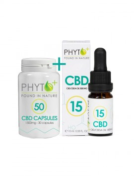 CBD 15% Drops + Caps combo pack