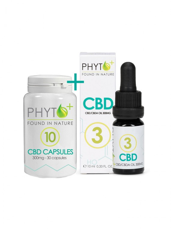 CBD 3% Drops + Caps combo pack