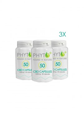 3 pack CBD Capsules 50mg- 4500mg total