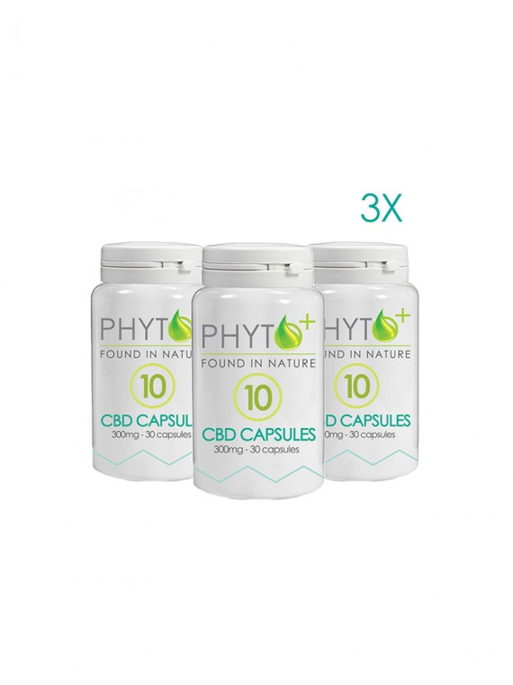 3 pack CBD Capsules 10mg - 900mg total