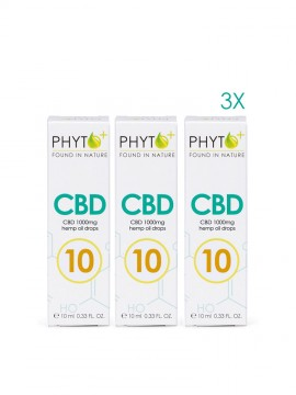 3 pack CBD Oil 10% Drops - 3000mg
